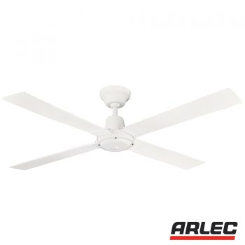 Arlec product categories classic lights and electrical 120cm 4 blade ceiling fan wooden blade white aloadofball Image collections